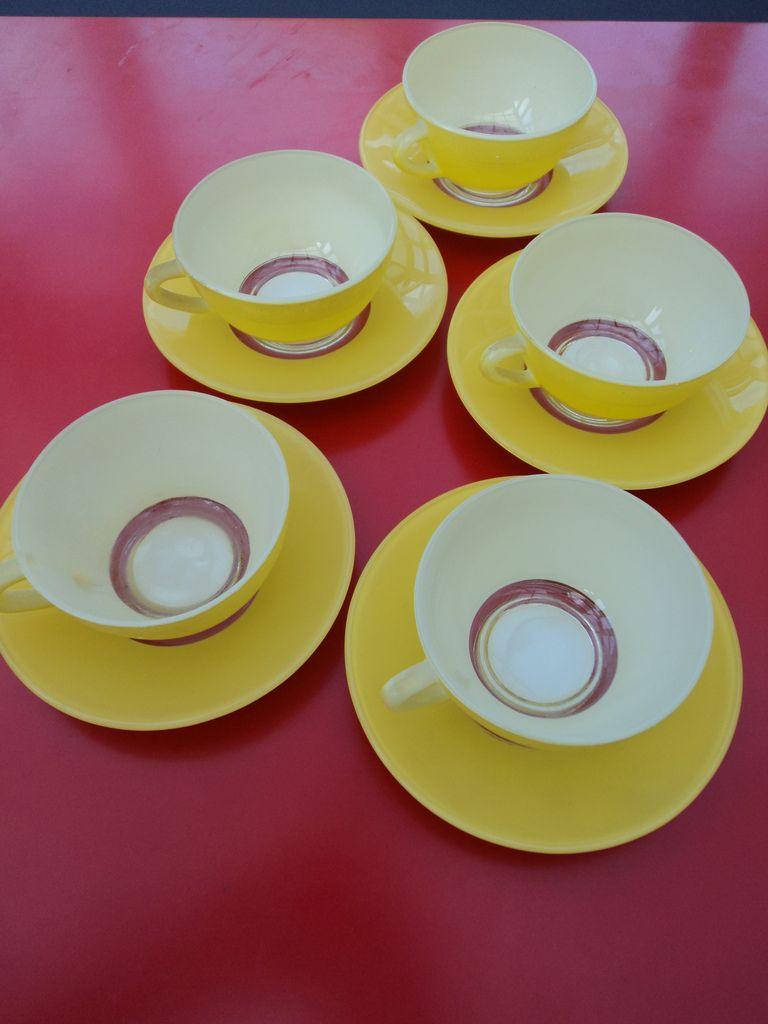 50s Duralex Couleurs Yellow Cups/saucers (Vrai Vintage) Tags: colors vintage design 60s perfect colours designer antique style retro 50s 20thcentury collectable midcenturymodern midcentury mcm vrai duralex coleurs 20thc mid20thcenturydesign vraivintage