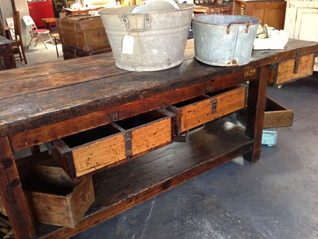 Old Workbench Nook Vintage Melbourne Shop And Tools In