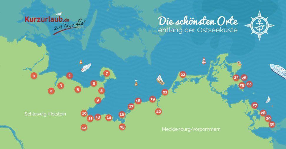 Die 30 Schonsten Orte An Der Ostsee Kurzurlaub De Orte An Der Ostsee Schone Orte Ostsee Schone Orte