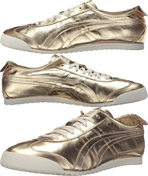Onitsuka Tiger by Asics Unisex Mexico 66 Gold/Gold Sneaker Men's 6, Women's  7.5