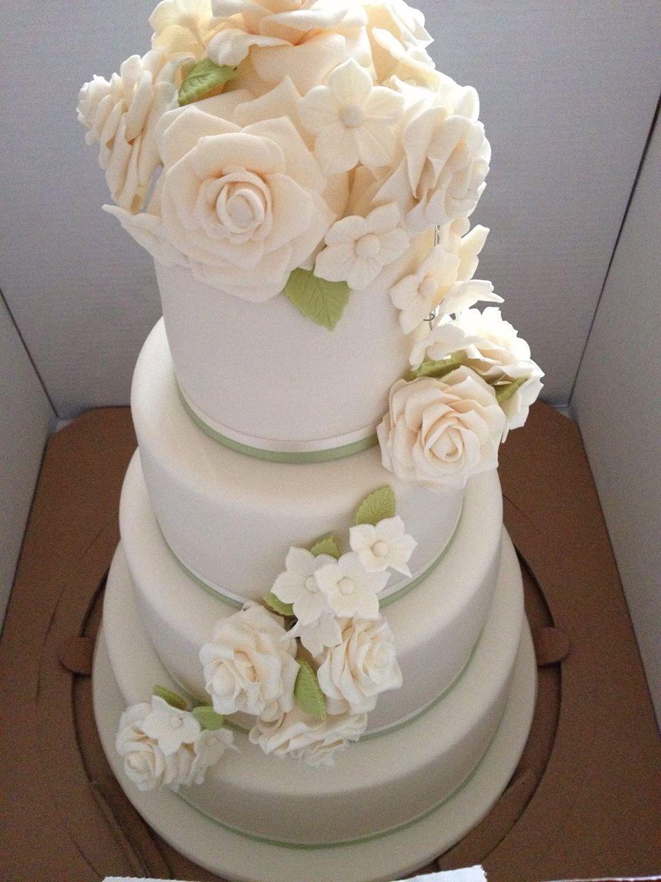 cascading sugar roses wedding cake east winter gardens maya