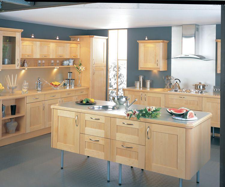 Modern Maple Kitchen Google Search Maple Kitchen Cabinets Maple Kitchen Maple Cabinets