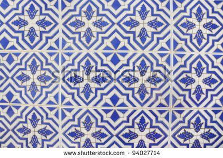 Stock Photo Mediterranean Arabic Style Ceramic Tile Wall Located In Alicante Spain