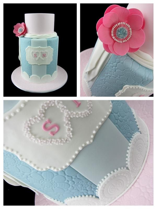 double barrel cake by Inspired by Michelle Cake Designs