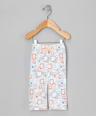 Take a look at this Orange Retro Square Organic Pants - Infant, Toddler & Girls by Kiwi Industries on #zulily today!