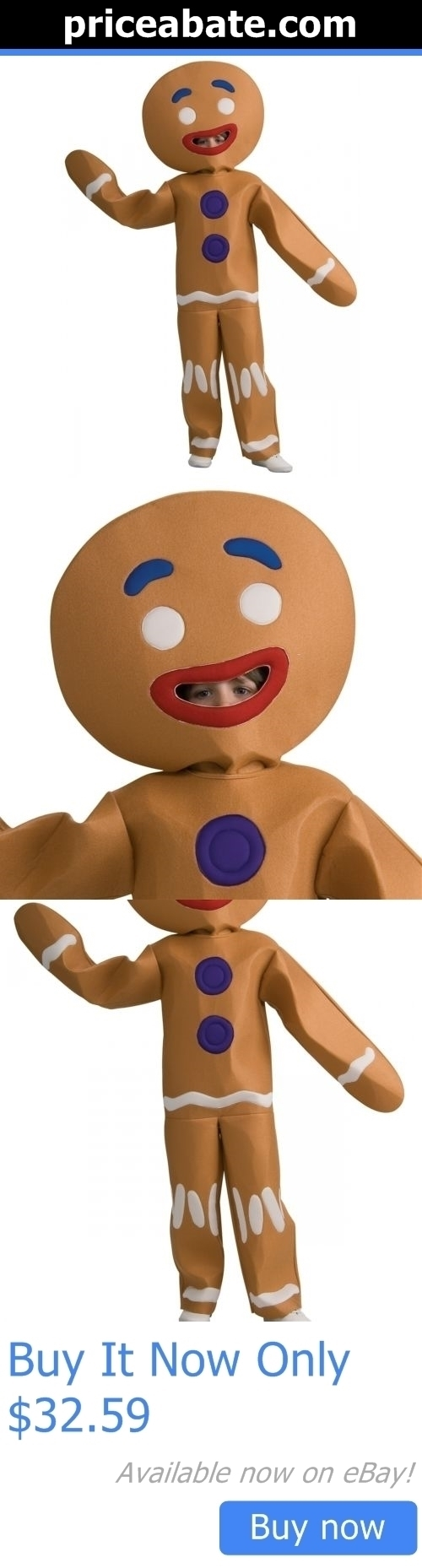 Kids Costumes Gingerbread Man Costume Shrek Halloween