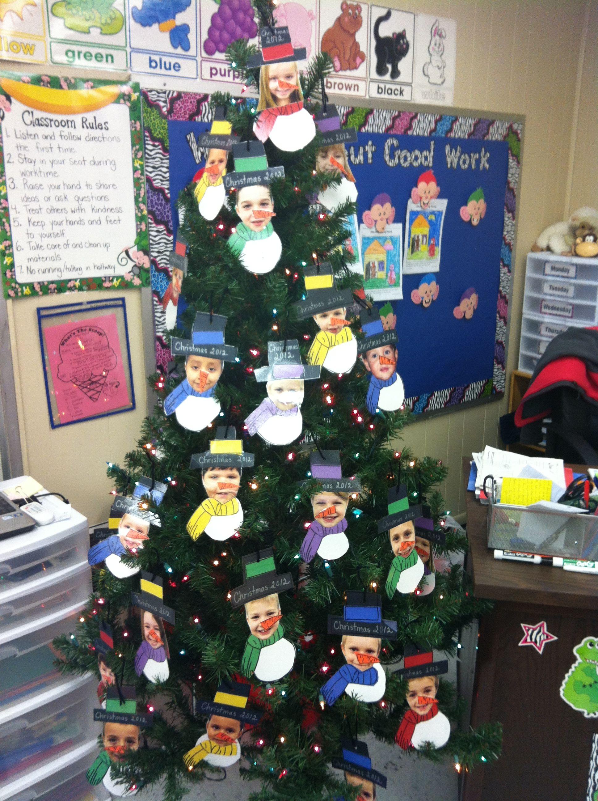 Snowmen Ornaments For The Classroom Christmas Tree I Took A