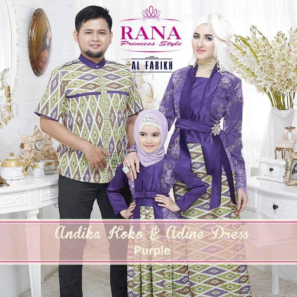 Busana Muslim Couple Keluarga Ayah Ibu Dan Anak Model Baju Batik