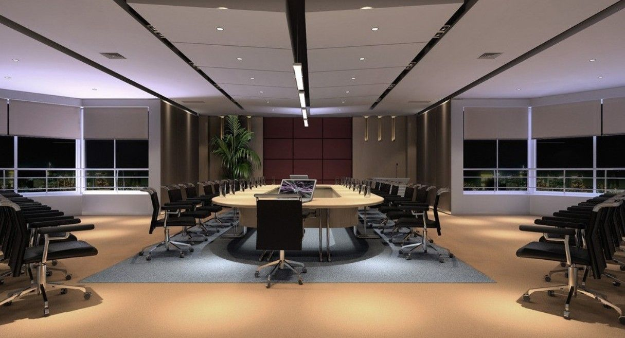Office U0026 Workspace, : Outsmart Large Conference Room With Executive Table  Room And Fancy Grey Carpet Also With Separate Chair Overlooking Green  Environment