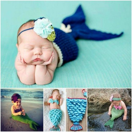 Crochet Mermaid Projects Lots Of Free Patterns | Bebe, Tejido y Bebé