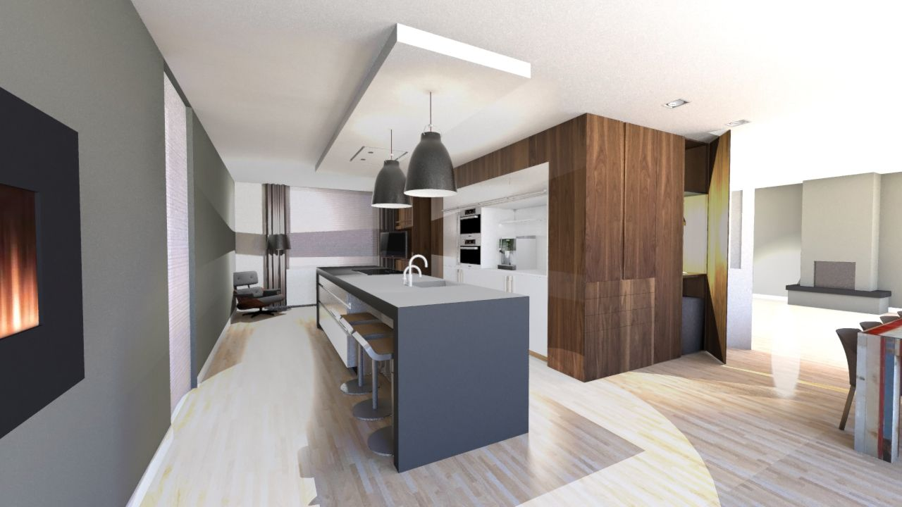 Licht dampkap boven keukeneiland keuken pinterest for Verlichting keuken
