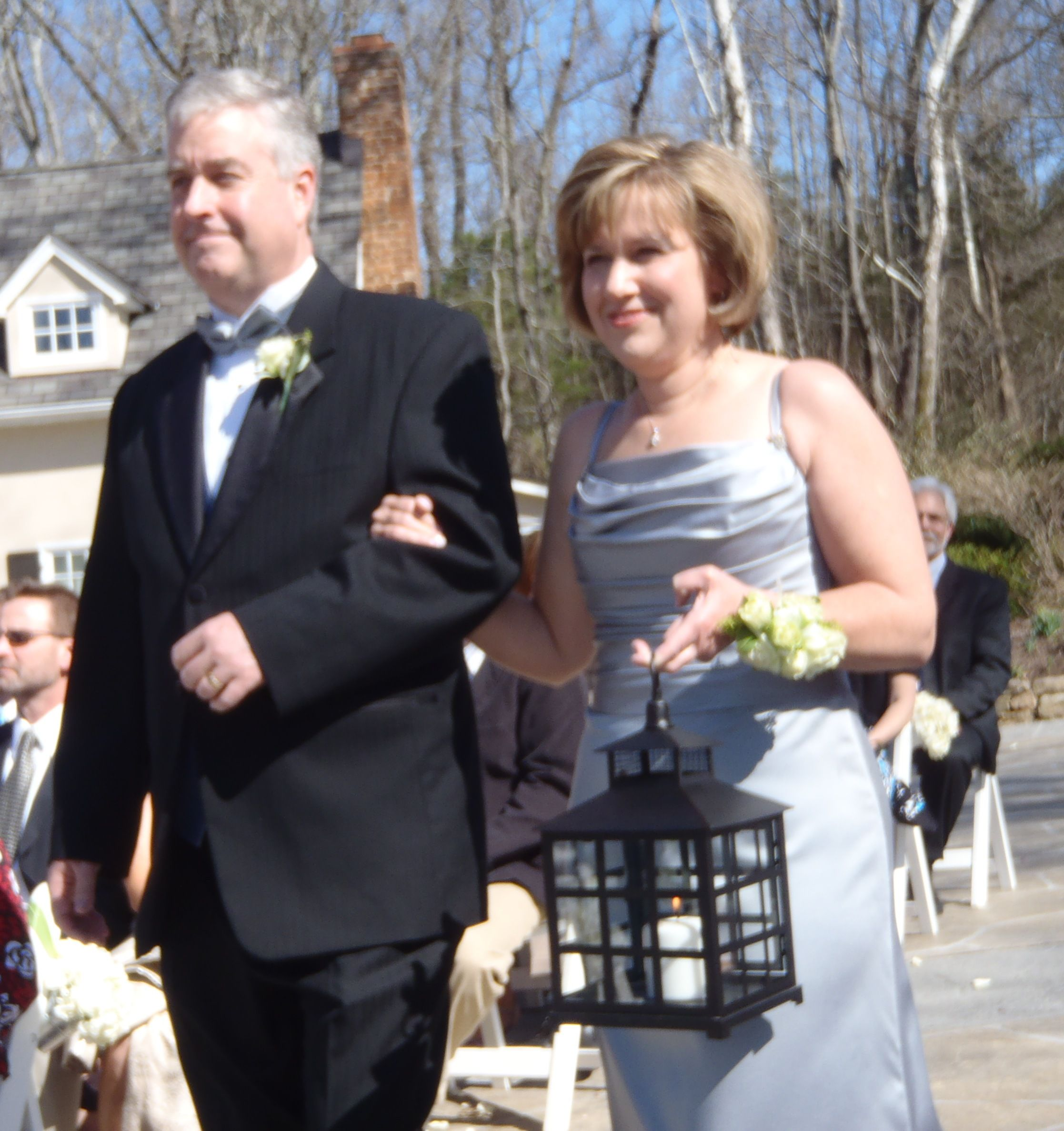 Unity Lantern carried by Mother-of-the-Bride