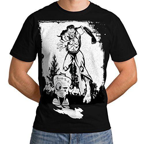 Wellcoda   Frankenstein Chase Mens NEW Black&White Black T-shirt XXXXXL Wellcoda http://www.amazon.co.uk/dp/B01BDJX17K/ref=cm_sw_r_pi_dp_Uiqexb152518A