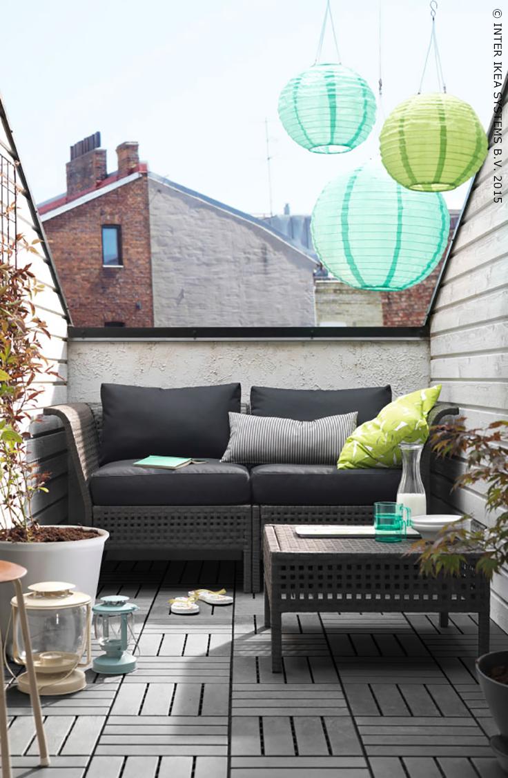 un oasis dans les toits ikea jardin terrasse kungsholmen kungs fauteuil l 39 t. Black Bedroom Furniture Sets. Home Design Ideas