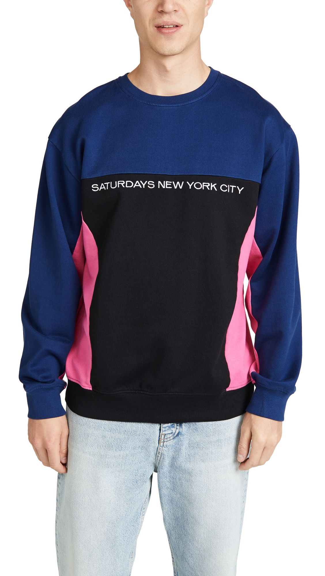 ff969fc73f SATURDAYS SURF NYC BONDI CREW NECK SWEATSHIRT. #saturdayssurfnyc #cloth