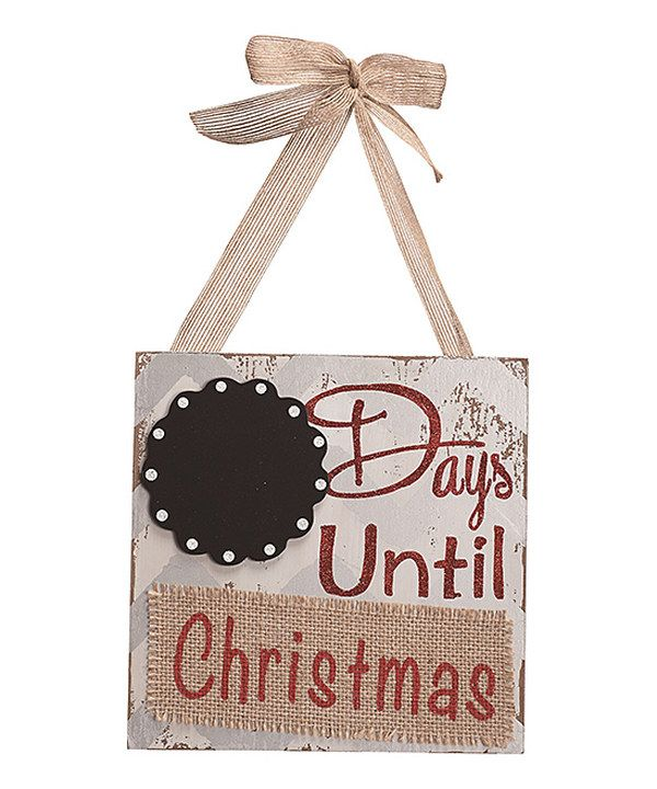 Look at this \u0027Days Until Christmas\u0027 Chalkboard Sign on #zulily today
