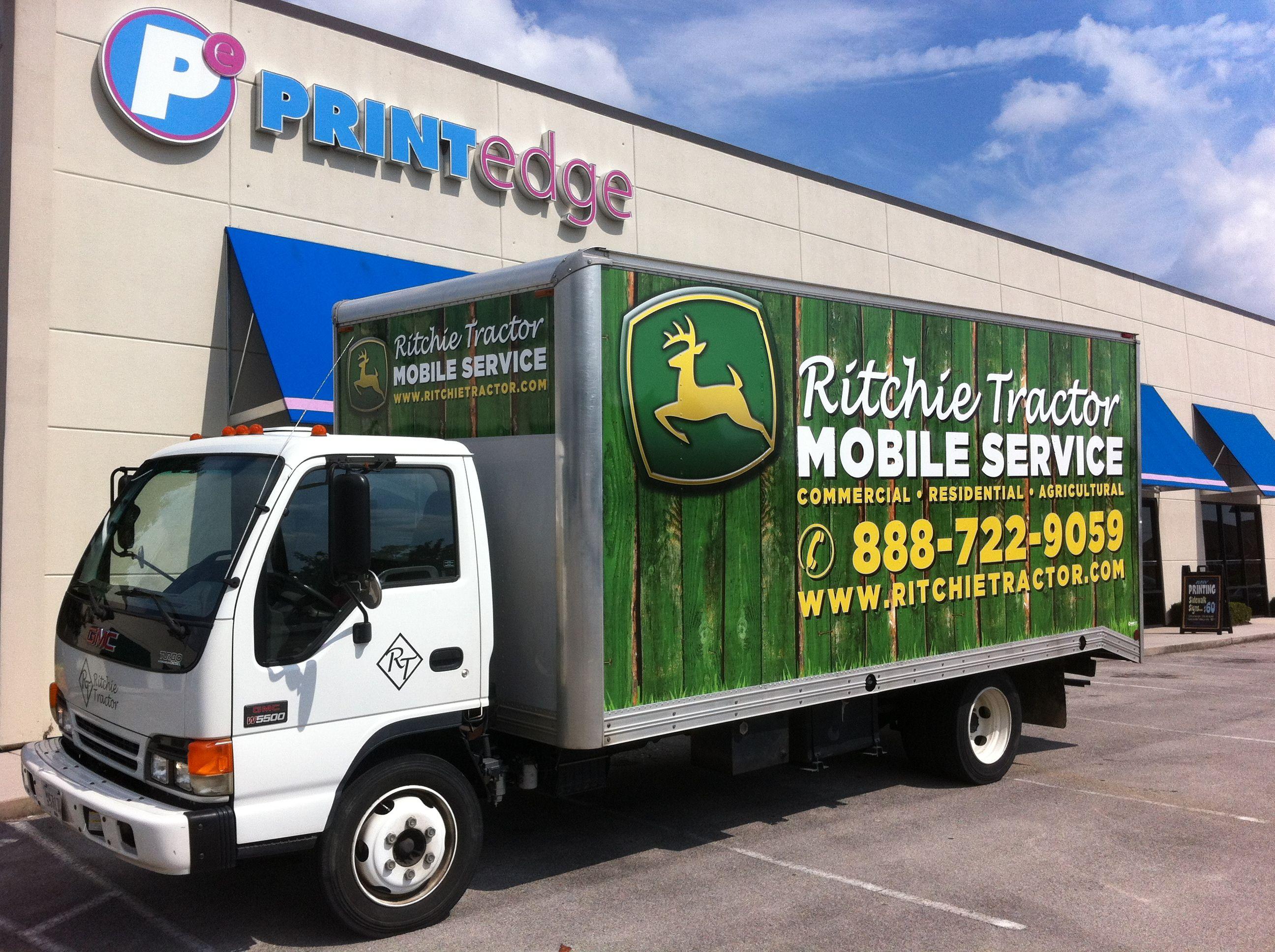 Ritchie tractor box truck wrap knoxville tn vehiclegraphics vehiclewraps vinylwraps vehicle wrapstractortruck