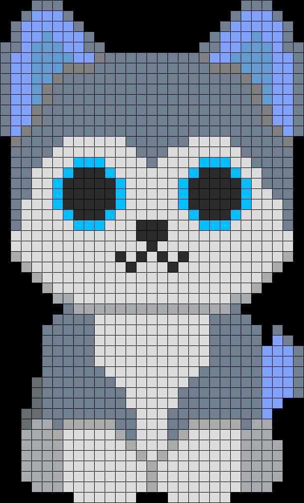 Slush Husky Beanie Boo Perler Bead Pattern | Bead Sprites | Animals ...