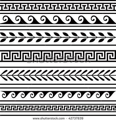 roman border patterns set