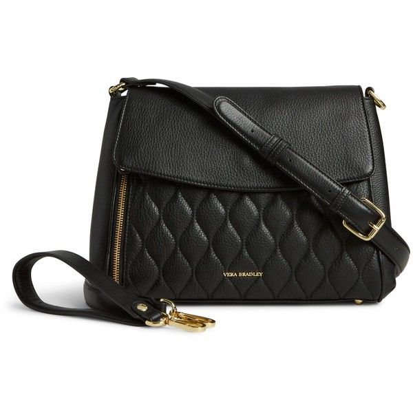 Vera Bradley Quilted Cara Convertible Bag in Black ($258) ❤ liked ... : vera bradley black quilted bag - Adamdwight.com
