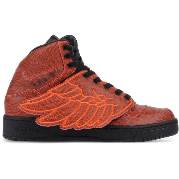 huge selection of 820dc de83d Jeremy Scott Adidas High-Top Sneakers (145) ❤ liked on Polyvore featuring  shoes