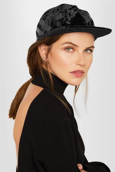 ef385a516 Off-White - Sequin-embellished velvet baseball cap | Products | Off ...