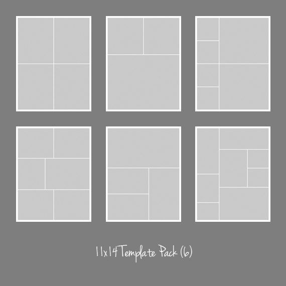 11x14 photo template pack collage photographers for 4 picture collage template