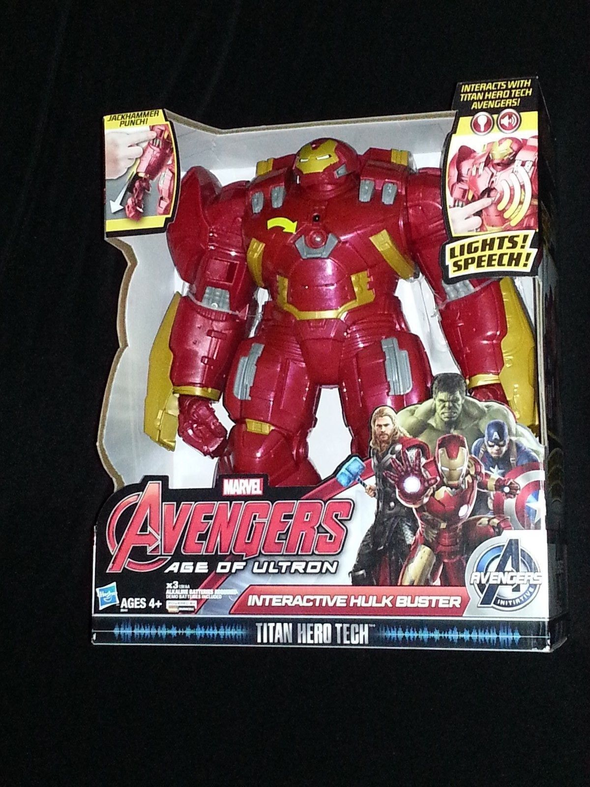 Marvel AVENGERS Age Of Ultron TITAN HERO TECH INTERACTIVE HULK BUSTER He Talks