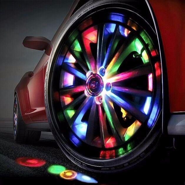 Car Vehicle Wheel LED Light Hub Valve Lamp Car Decor Colorful Flashing LED Bulb