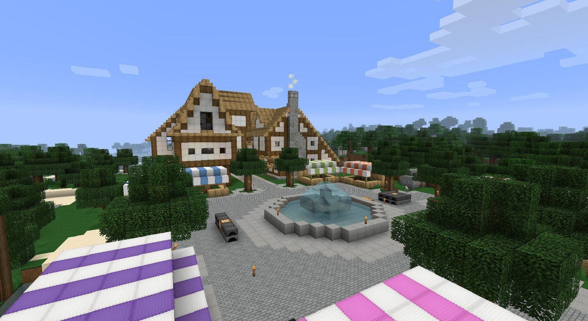 Images of Minecraft Town Ideas - #rock-cafe
