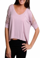 Lacey --  MAUVE PINK TOP  ~~ Your next outfit is one click away! Shop at www.SassyRiley.com
