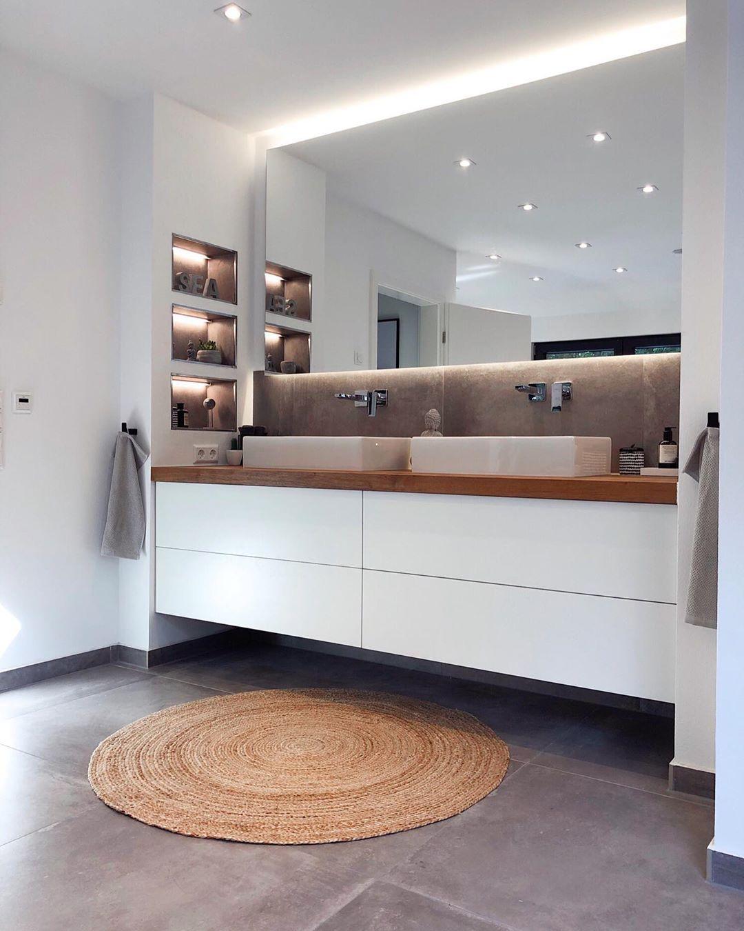 Interior Home On Instagram Werbung Und Hier Noch Das Fertige Ergebnis Mit Unserem Neuen Jute Tep Stil Badezimmer Jute Teppich Badezimmer Einrichtung