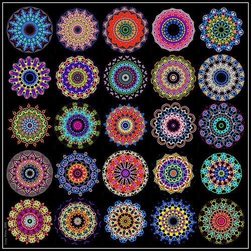 Kaleidoscope Mandalas Diseños De Mandalas Como Hacer Un Caleidoscopio