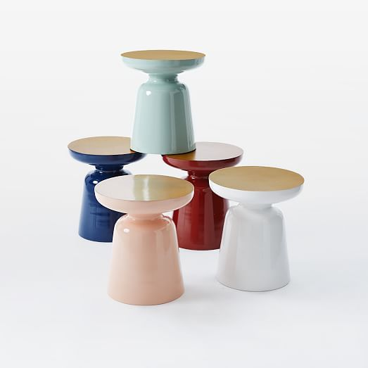 Martini Two Tone Side Table 16 Diameter On Sale For 127 Down From 159 Also Available In Solid Colors And Solid Meta Side Table Eco Friendly House Martini