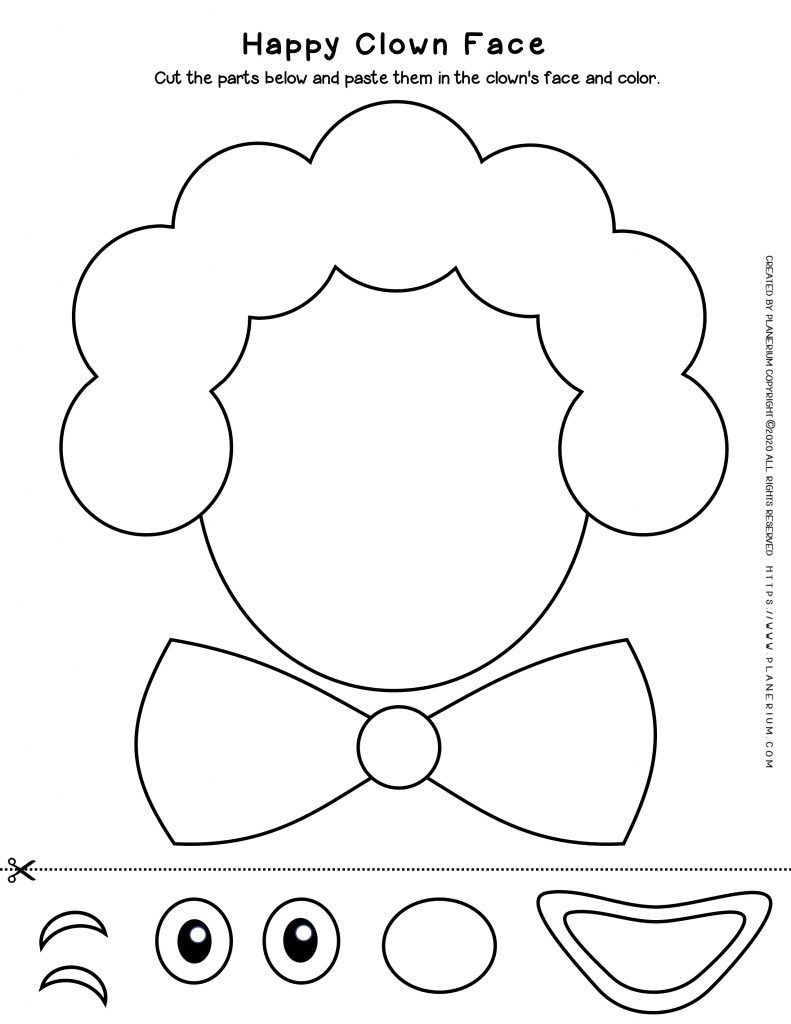 Best Printables For Carnival 2021 Planerium Clown Faces Clown Crafts Carnival Crafts [ 1024 x 791 Pixel ]