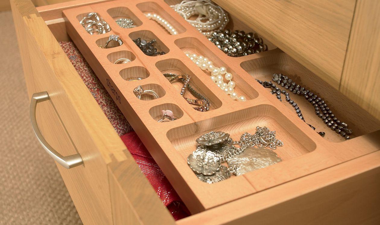 Jewellery drawers bedroom furniture storage solutions for Bedroom furniture storage solutions