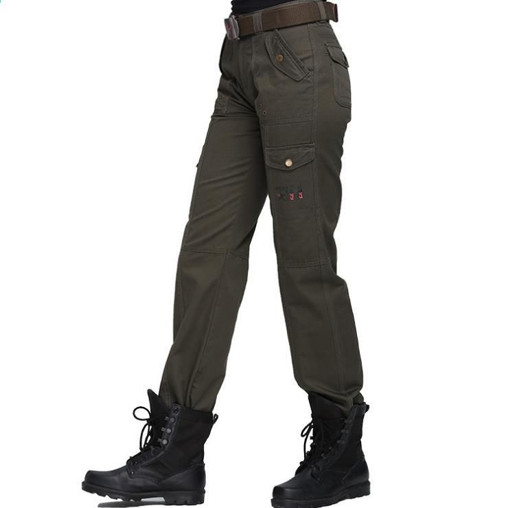 d434d677b4 Pantalon cargo grande taille femmes vêtements militaires pantalons  tactiques multi-poches coton joggeurs pantalons de