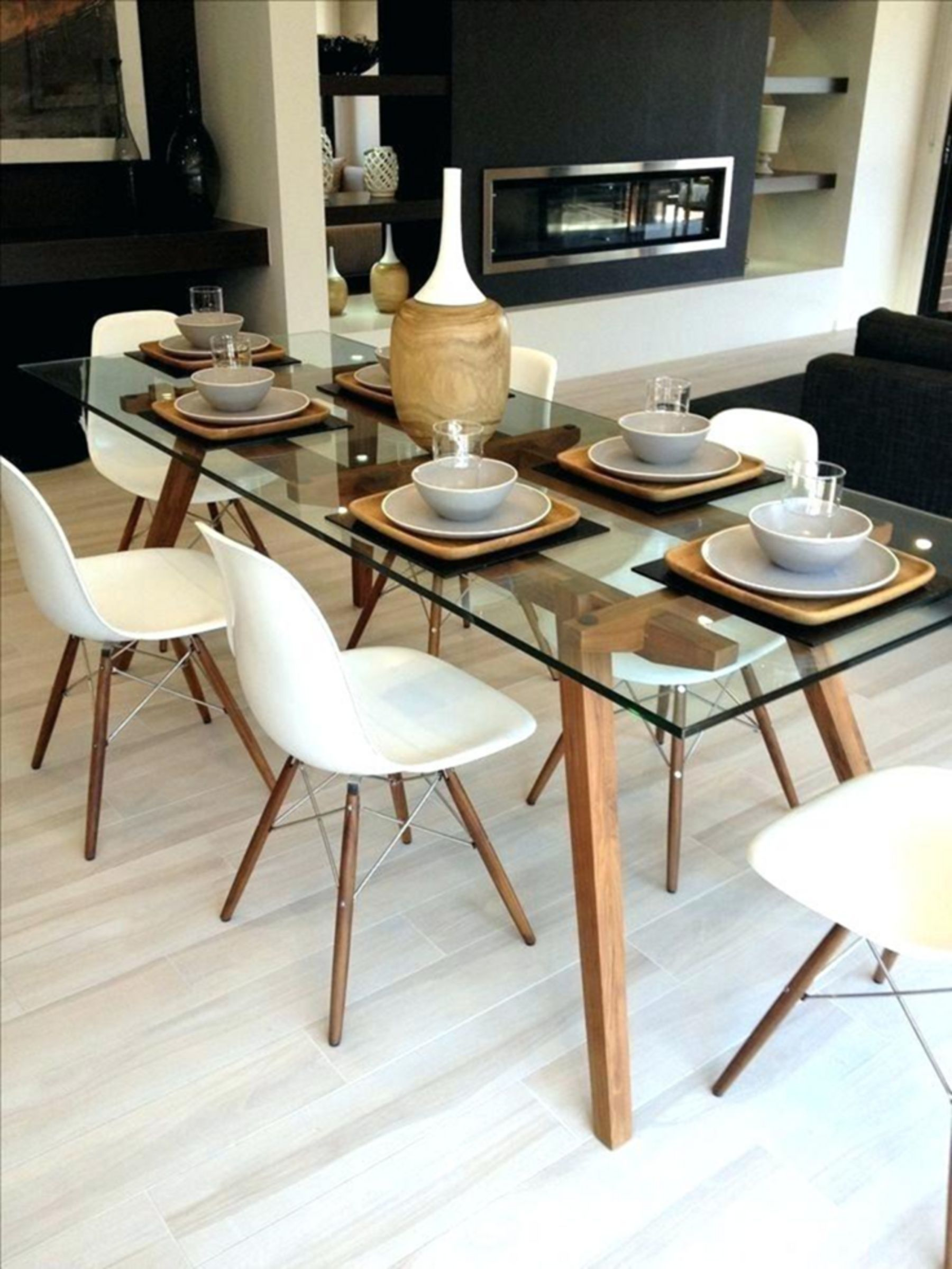Top 12 Creative Dining Table Design Ideas To Make Your Dining Room Beautiful Dining Room Table Set Glass Dining Room Table Eames Dining