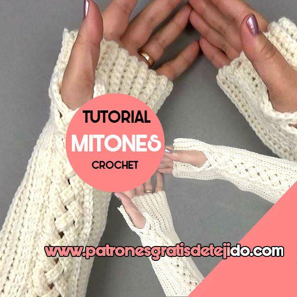 mitones crochet con video tutorial | Crochet y Dos Agujas ...