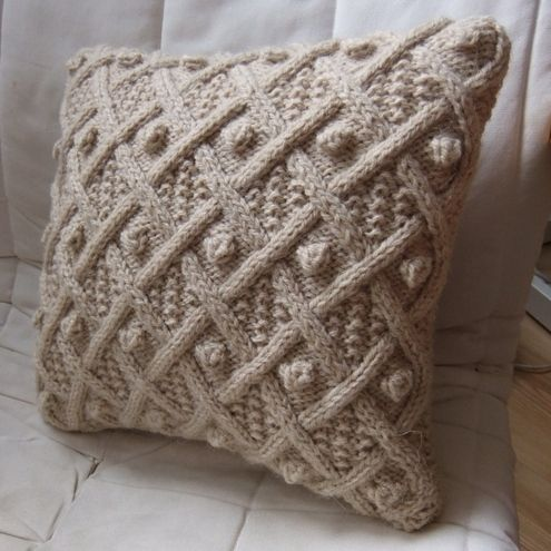 Cable Cushions Knitted Pinterest Cable Pillows And Knit Pillow