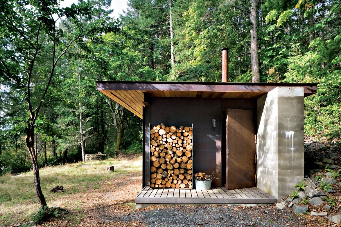 on a four acre site on salt spring island just southwest of vancouver olson sundberg kundig allen architects crafted a cabinmodest in size yet bold in - Garden Sheds Vancouver Island