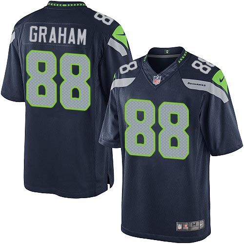 nike limited jimmy graham navy blue youth jersey seattle seahawks 88 nfl home