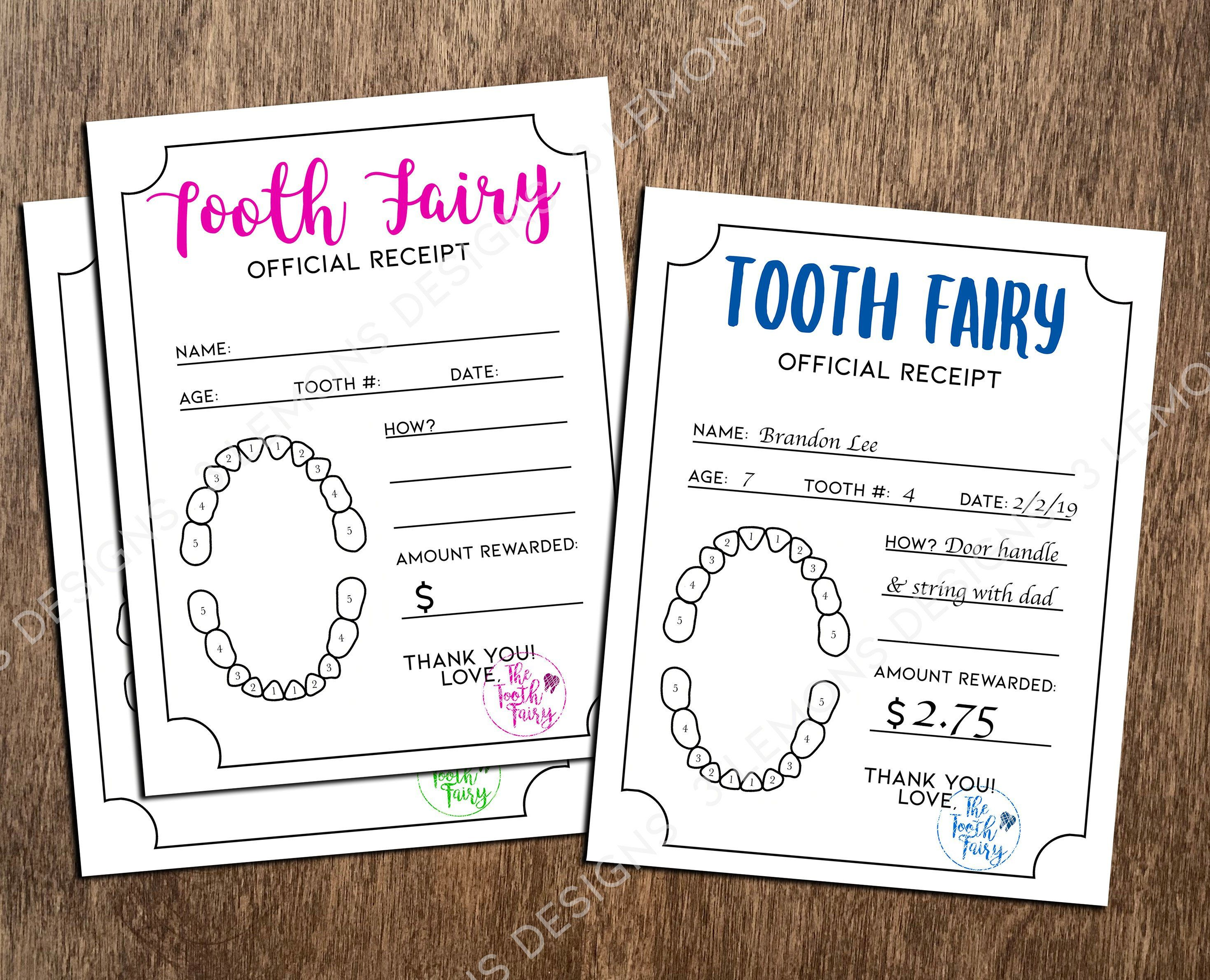 Tooth Fairy Receipt Printable Download Boys And Girls Tooth Etsy In 2021 Tooth Fairy Letter Tooth Fairy Receipt Tooth Fairy Receipt Printable