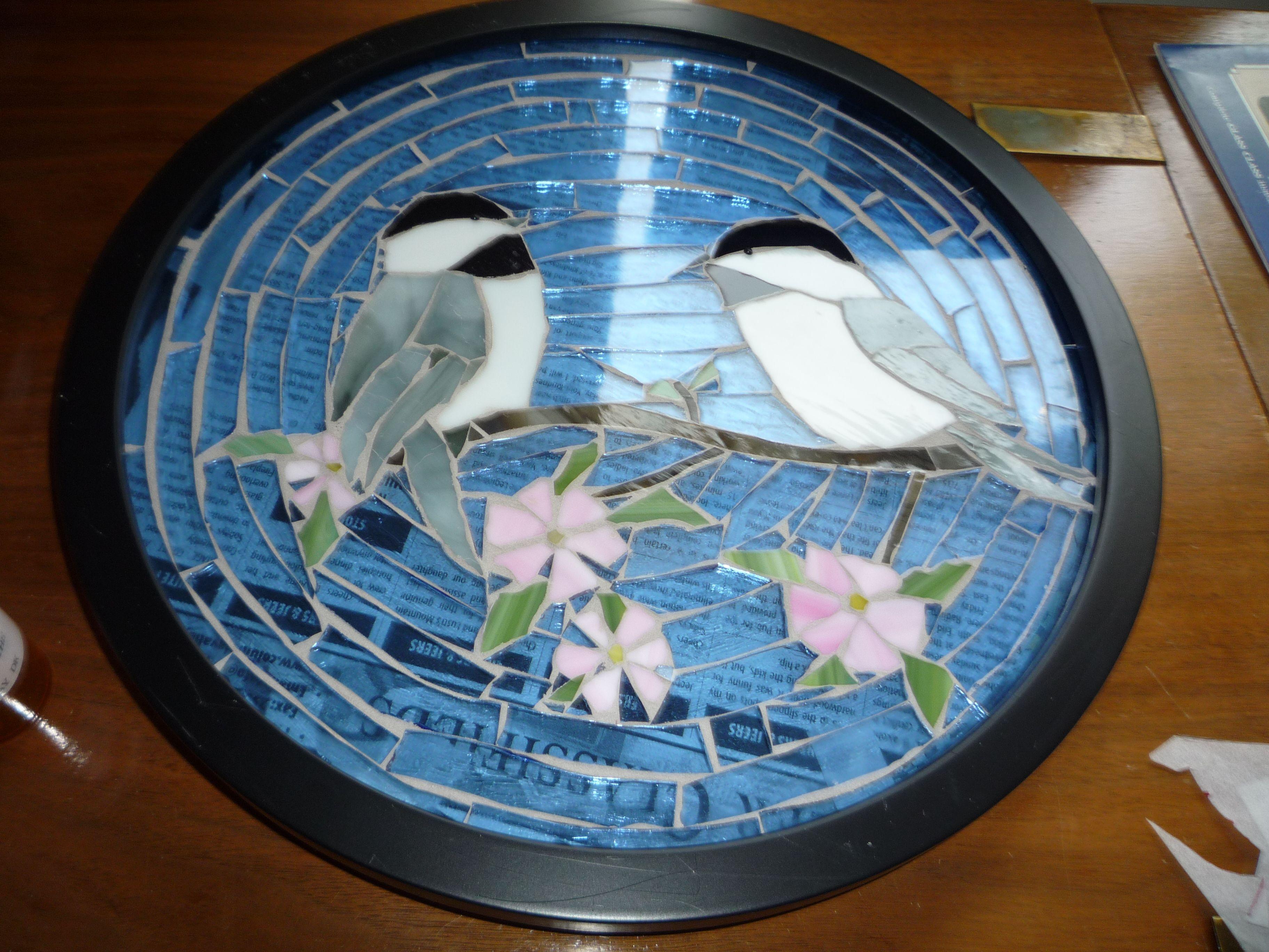 Chickadees Betty Hope Glass Art Popular Shows