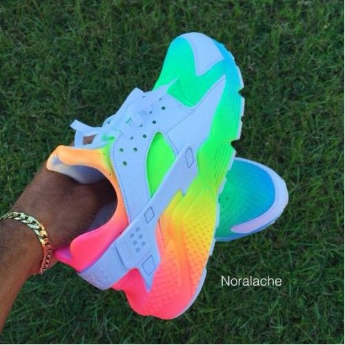 newest 5de62 e7c7c Nike Air Huarache Rainbow Womens Shoes   Trainers 50-70% Off Clearance