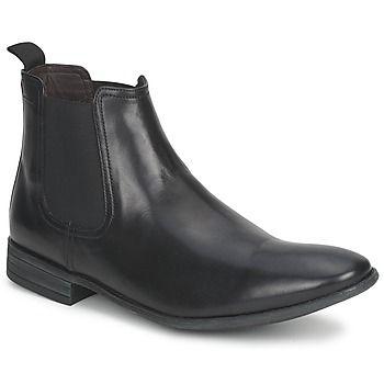 bienes de conveniencia comprar mejor diseño novedoso Botines negros de cuero para hombre con un toque chic & rock ...