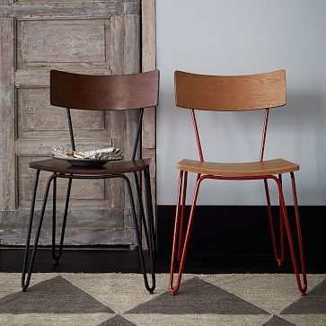 Hairpin Leg Dining Chair--I am sooo in love! Where were these when I was shopping for my dining table?