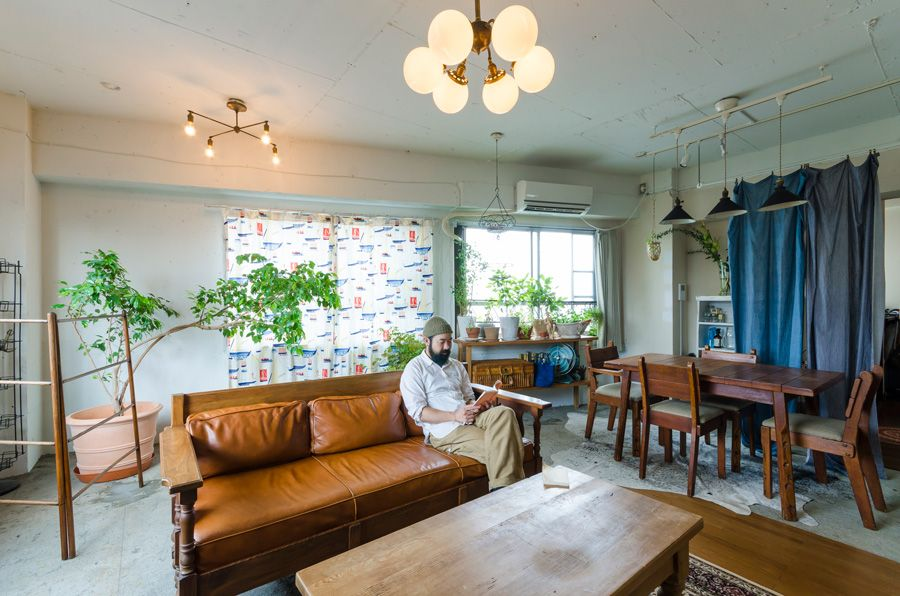 かつてはビルのオーナーが その後は外国人が住んでいたという一室