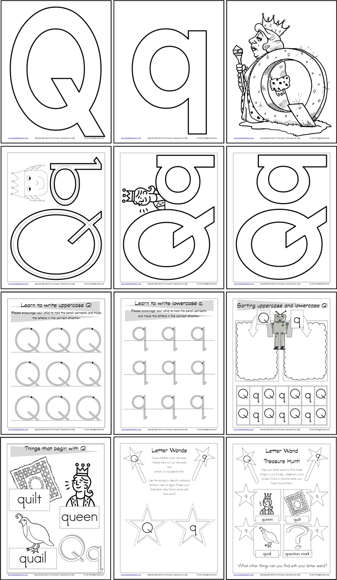 worksheet Letter Q Worksheet letter of the week q abc 123 pinterest wands circle time alphabet worksheets