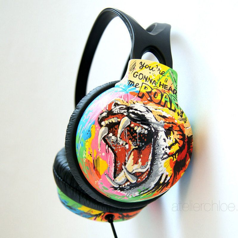 Personalized Hand Painted Headphones Custom Phillips Etsy Best Headphones Custom Headphones Headphones
